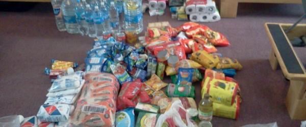 1- Sala de Pilates en Sede Centro almacenando donaciones - Jockey Club Córdoba