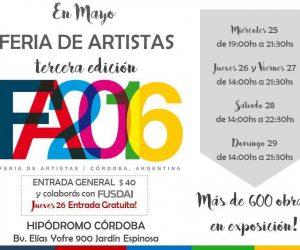 26 al 29 de mayo 3era. Feria de Artistas en Hipódromo Córdoba - Jockey Club Córdoba
