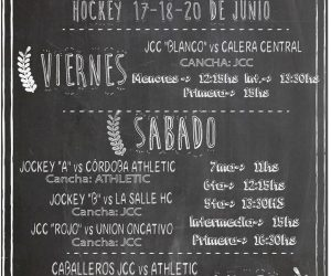 Fixture Fin de Semana - 17 al 20-06 - JCC Hockey