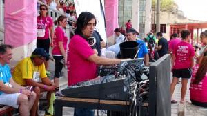 Martín Huergo ambientando el evento.