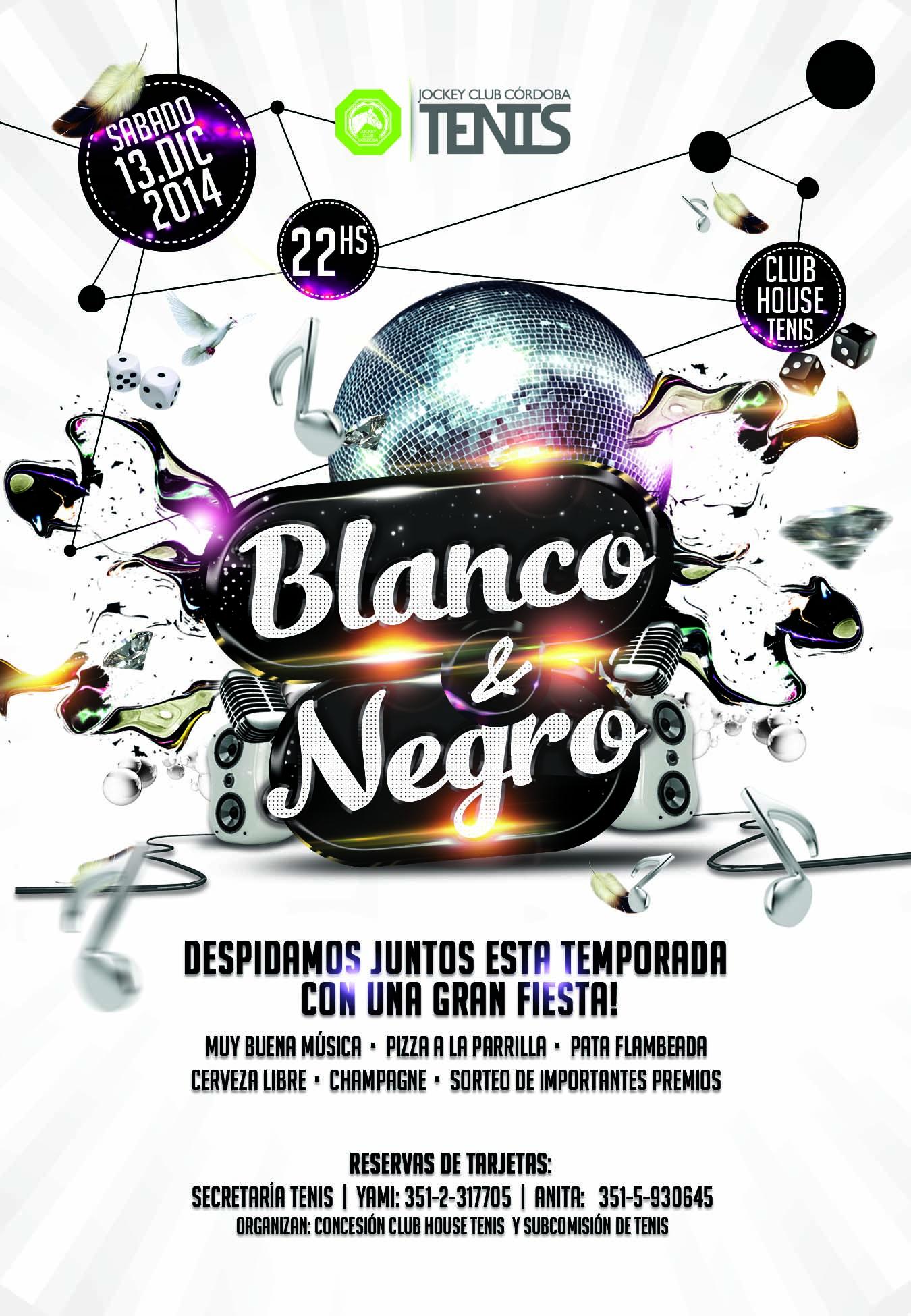 Tenis-Fiesta-Fin-De-Año-Black&White-Flyer