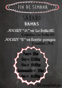 SABADO-Programación Hockey Sábado 30 de abril 2016