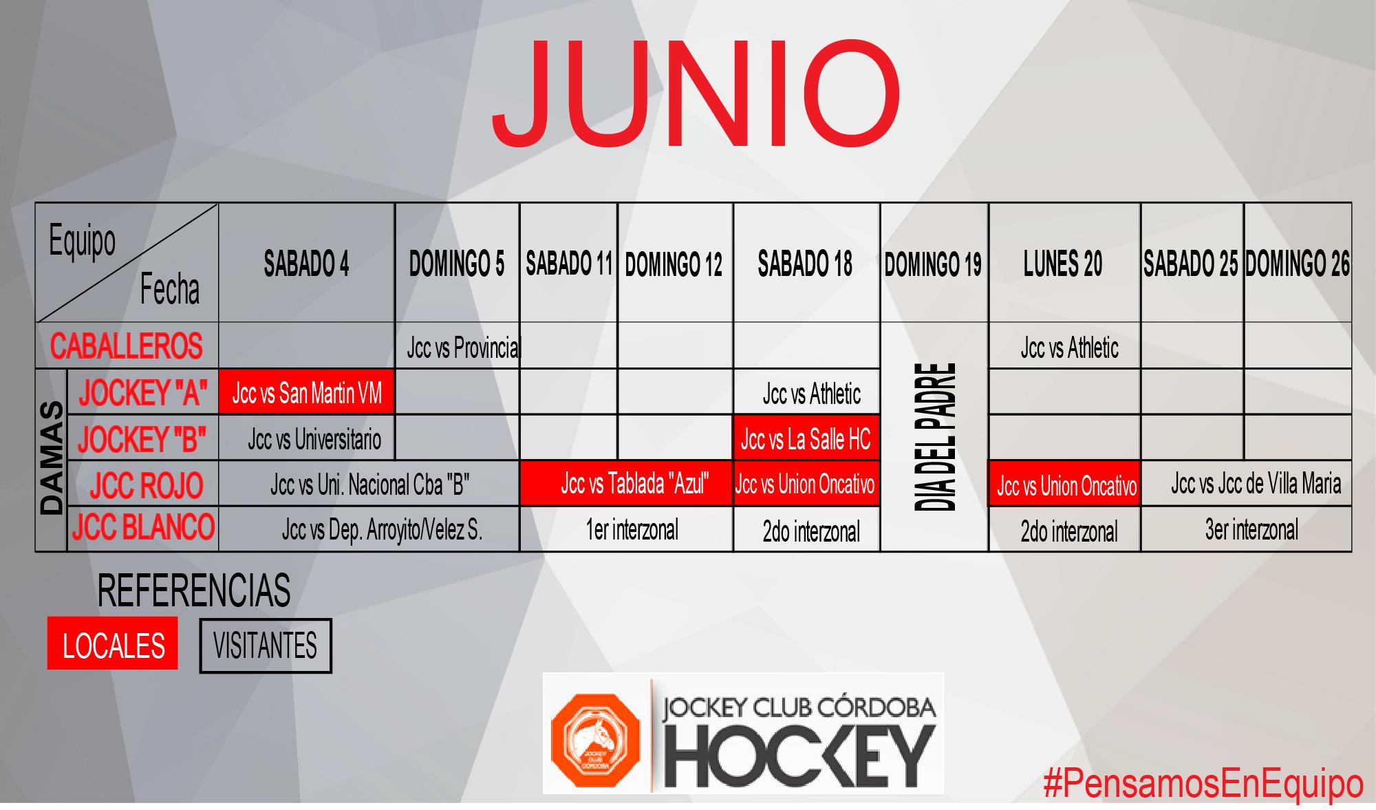Partidos junio 2016 - JCC Hockey