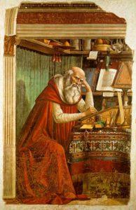 San Jerónimo en su estudio, Domenico Ghirlandaio, 1480.