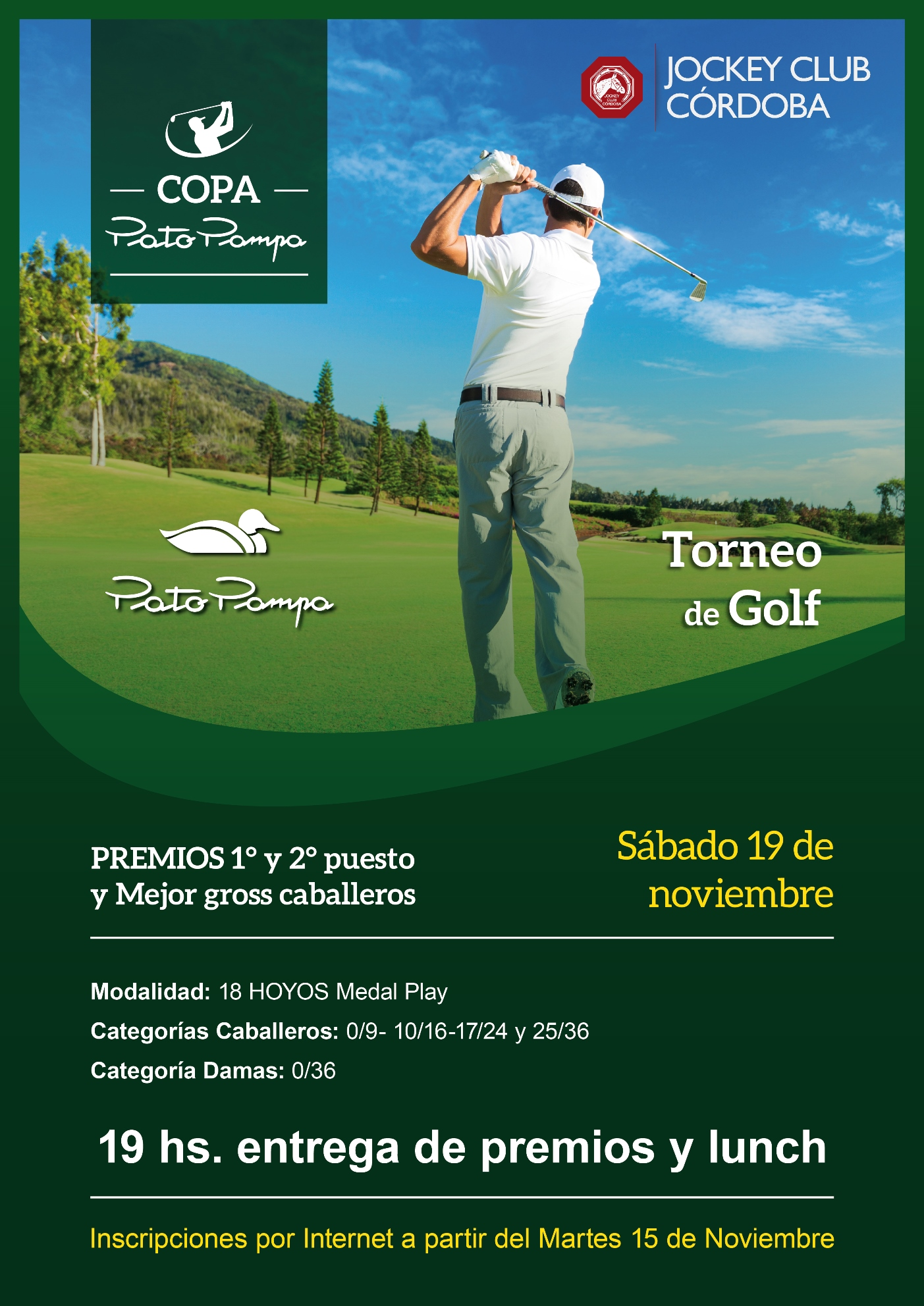 afiche torneo golf jockey