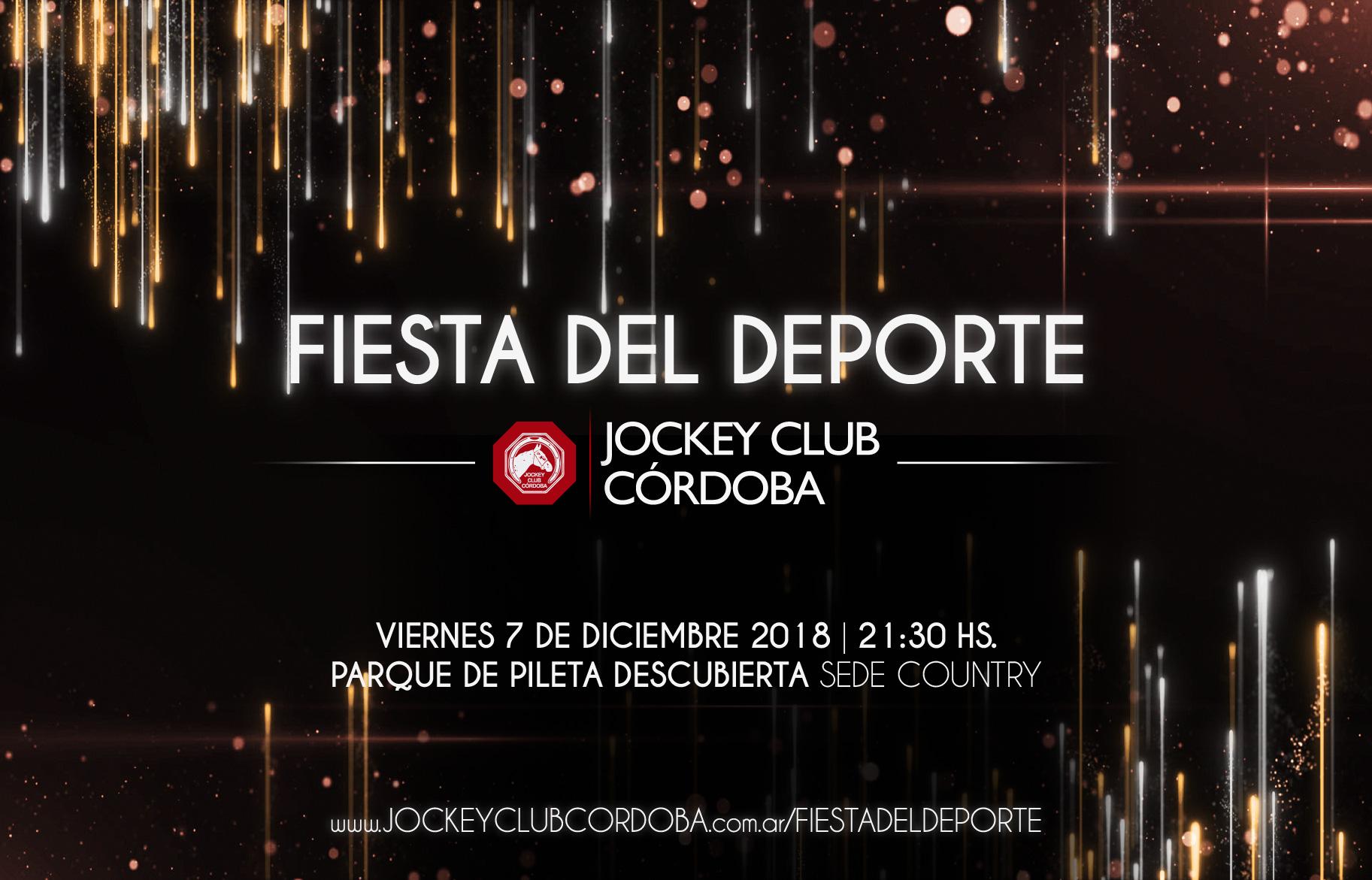 Viernes 7 De Diciembre Fiesta Del Deporte Jockey Club Córdoba 2018